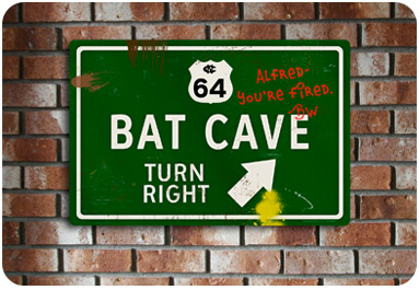 Bat Cave Road Sign